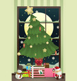 christmas season vector image vector image