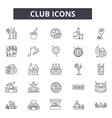 club line icons for web and mobile design vector image