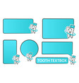 collection of tooth doctor and textbox for vector image vector image