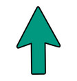 color arrow sign up direction icon vector image vector image