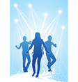 Dancing group vector image