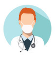 doctor web icon therapist avatar vector image vector image