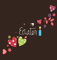 easter card with art elements vector image
