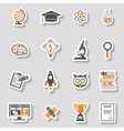 Education Icon Sticker Set vector image vector image