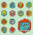 energy outline colorful style and resource icon vector image vector image
