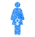 female fertility grunge icon vector image vector image