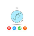 fish icon fishing sign vector image vector image