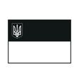 Flag of Ukraine monochrome on white background vector image
