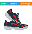 Flat design icon of Fitness sneakers vector image vector image