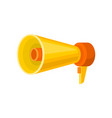flat icon of bright yellow megaphone loud vector image vector image