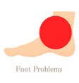 foot problem icon cartoon style vector image
