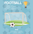 football or soccer goal sports equipment poster vector image vector image