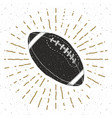 football rugby ball vintage label hand drawn vector image vector image