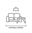 furniture store pixel perfect linear icon vector image vector image