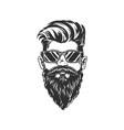 gentleman in glasses stylish hipster portrait vector image