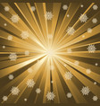 gold rays and snowflakes vector image vector image