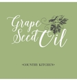 Grape seed oil vector image vector image