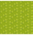 Green clover pattern vector image