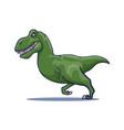 hand drawn cartoon tyrannosaur running vector image vector image
