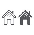 home page line and glyph icon web and house vector image