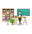 interior of room for teacher workplace vector image