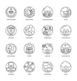 internet and networking icons pack vector image