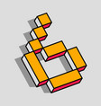 isometric 6 number vector image
