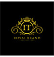 it letter initial luxurious brand logo template vector image vector image