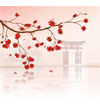 japanese floral background vector image vector image