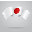 Japanese waving Flag vector image