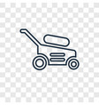 lawnmower concept linear icon isolated on vector image