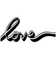 love written in a ribbon style vector image