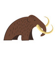 mammoth isolated icon stone age and prehistoric vector image vector image