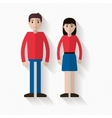 Man and woman couple vector image