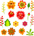 mexican flowers vector image vector image