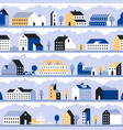 minimal city pattern minimalistic town landscape vector image