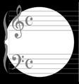 music circle vector image vector image