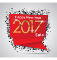 New Year Sale 2017 Creative sale tag vector image vector image