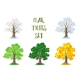 Oak Trees Set Seasons vector image vector image