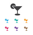 of game symbol on cocktail vector image