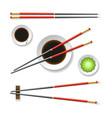 oriental restaurent chopsticks vector image vector image
