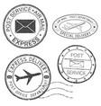 postmarks black ink round postal stamps vector image vector image