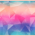 rainbow color triangle pattern vector image vector image