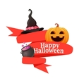 Red Ribbon Halloween vector image