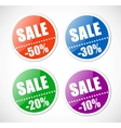 Sale stickers with perforation vector image vector image