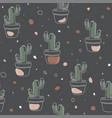 seamless pattern - cactus vector image vector image