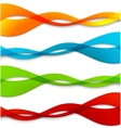 Set of abstract color wavy lines vector image vector image