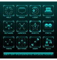Set of Futuristic User Interface Icons vector image