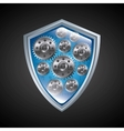 Shield icon Security system design vector image vector image