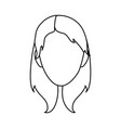 silhouette girl face draw vector image